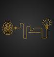 Creative idea concept brainstorm light bulb vector image