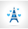 Flat blue romantic trip icon vector image