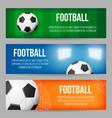 football stadium banner templates set vector image