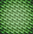 Green emerald geometric cubic background vector image