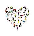 I love yoga Heart shape vector image