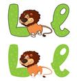 letter L lion vector image