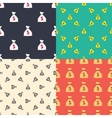 Money bag with dollar sign seamless patterns set vector image
