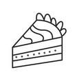 piece of cake doodle hand drawn line vector image