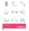 Ribbon icon set vector image