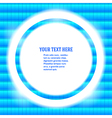 round frame your message bright blue mosaic vector image