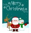 Santa and friends3 vector image