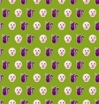 Seamless Texture with Colorful Cats and Skulls for vector image