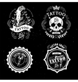 Tattoo old school studio skull vector image
