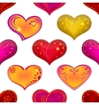 Valentine heart seamless vector image vector image