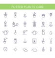 Garden and Potted Plants Care Instructions Icons vector image vector image