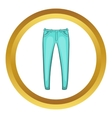 Mens jeans icon vector image