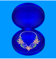 female necklaces with precious stones vector image vector image