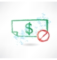 ban paper dollar grunge icon vector image