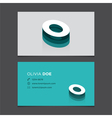 business card letter O vector image