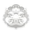 Traditional balinese mask Barong vector image