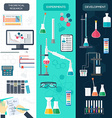 Set of chemical vertical banners Science process vector image