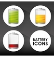 Battery design energy and power concept editable vector image