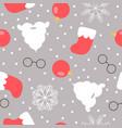 christmas themed seamless pattern santas beard vector image