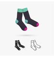 Classic socks vector image