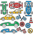collection of vintage classic sport cars vector image
