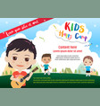 colorful kids summer camp poster or banner vector image