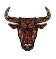Ethnic ornamented bull or minotaur taurus vector image