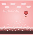 happy valentines day concept vector image
