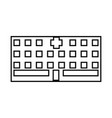 hospital it is black icon vector image