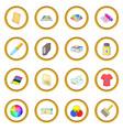 Print process icons circle vector image