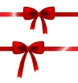 red satin bow vector image