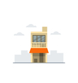 Small house two stories building vector image