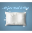 White Pillow with magic on Blue Background Real vector image