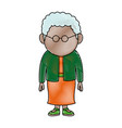 woman adult character standing people on white vector image