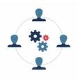 Teamwork Infographics template vector image