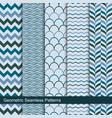 zigzag wavy geometric seamless patterns vector image
