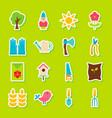 spring garden stickers vector image