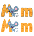 letter M mouse vector image vector image