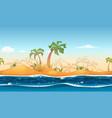 seamless tropical beach landscape vector image vector image