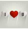 I love you with heart vector image