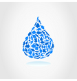 water drop2 vector image