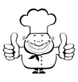 smiling chef vector image vector image
