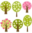 set of spring trees vector image