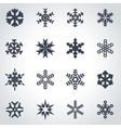 black snowflake icon set vector image vector image