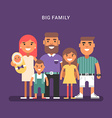 Big family of 6 members parents and four children vector image