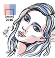 fashion hand drawn portrait vector image