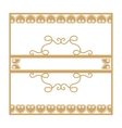 Gold vintage frame with vegetable elements vector image