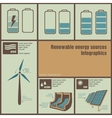 infographics of energy vector image