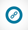 Link bold blue border circle icon vector image
