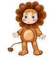 Lion costume vector image